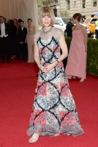 Anna Wintour in a Chanel gown.