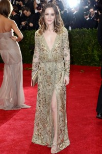 Leighton Meester wore a dress from the Emilio Pucci.
